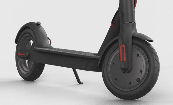 Xiaomi Mi electric scooter close up