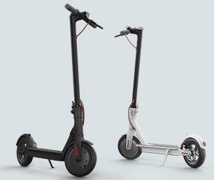 Xiaomi Mi electric scooter - black and white