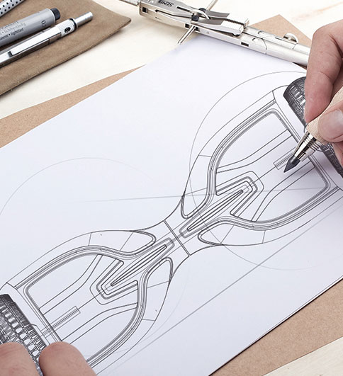 TOMOLOO hoverboard design