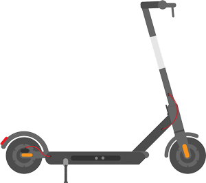 Electric scooter animation